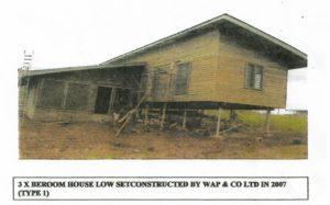Education 3Bedroo House Low set( Type 2)- 2007 buit by Wapco Builders