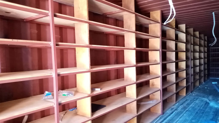 National Library Archive cabinets built by Wapco Builders