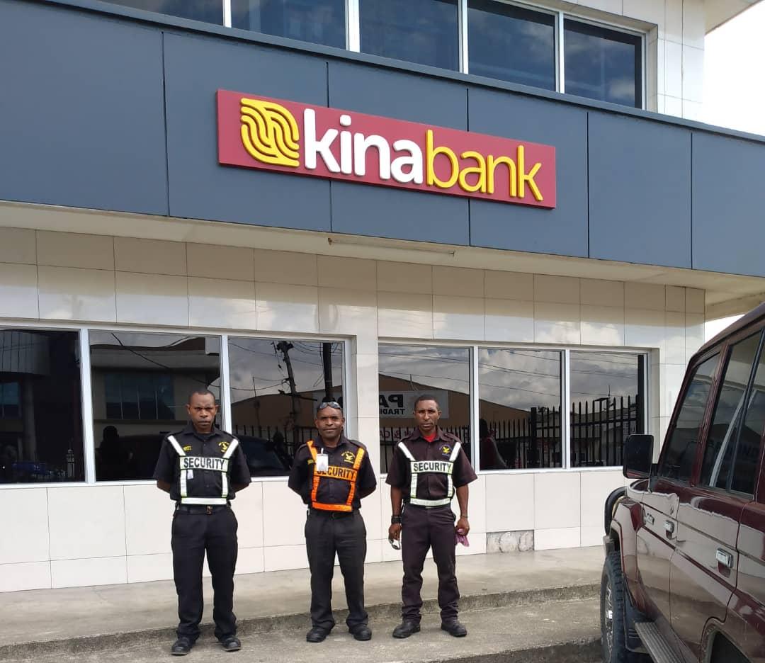 Wapco Security Guards at Kina Bank
