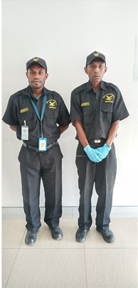 Wapco Security guards on duty.