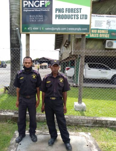 Wapco Security Guards on duty, PNGFP office