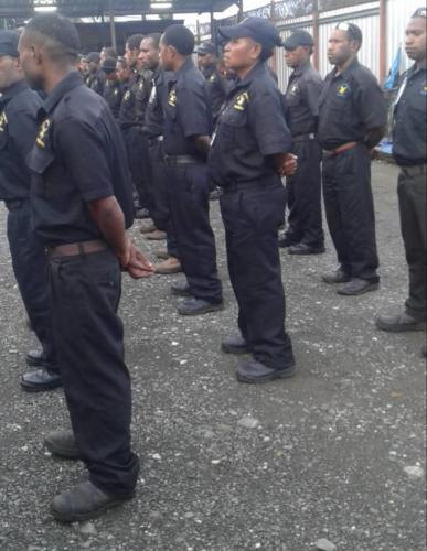Wapco Lae Guards on Parade
