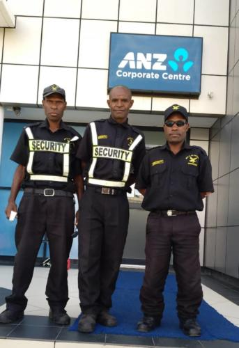 Wapco Security guards on duty, ANZ corporate center