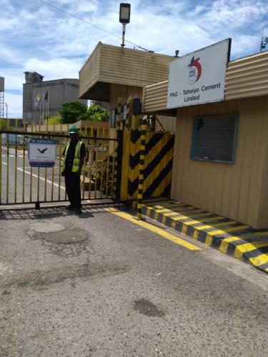 Wapco Security guards on duty, on premises