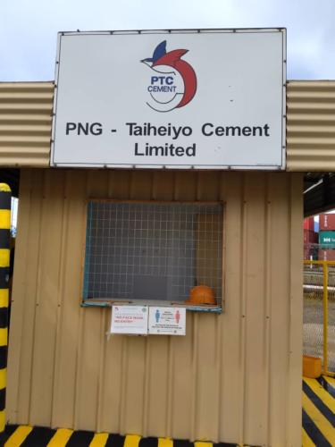 PNG - Taiheiyo Cement Ltd guarded by Wapco Security SErvice