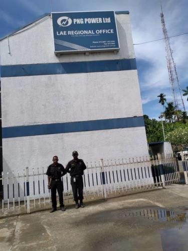 PNG Power Lae Regional Office guarded by Wapco Security Service