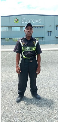 Wapco Security guards on duty at PNG Customs