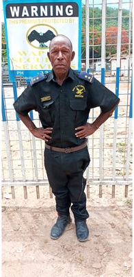 Wapco Security guards on duty at PNG Power tower