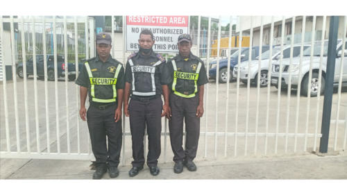 Wapco Security Guards on duty